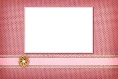 Photo frame on dots background Stock Photos