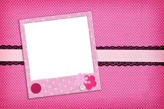 Photo frame on dots background Royalty Free Stock Image