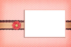 Photo frame on dots background Royalty Free Stock Photography