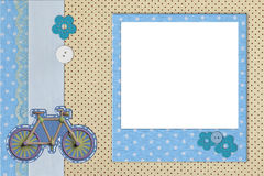 Photo frame on dots background. Photo frame on polka dot background Stock Photography