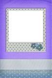 Photo frame on dots background Royalty Free Stock Photo