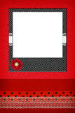 Photo frame on dots background Royalty Free Stock Photo