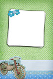 Photo frame on dots background Royalty Free Stock Images