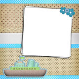 Photo frame on dots background Royalty Free Stock Photos
