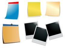 Photo frame and empty notes  Royalty Free Stock Photo