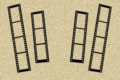 Photo frame with film strips Royalty Free Stock Photo