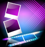 Photo frame and filmstrip Royalty Free Stock Photos