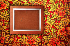Photo Frame with Floral Wall. The classic photo frame with floral wall stock photos