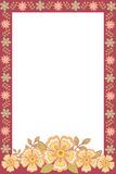 Photo frame with flowers Royalty Free Stock Photo
