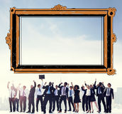 Photo Frame Gallery Border Decoration Concept Royalty Free Stock Photography