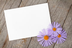 Photo frame and gerbera flowers Royalty Free Stock Photos