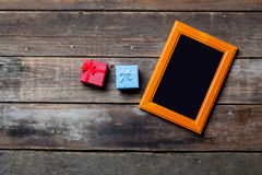 Photo frame and gifts Royalty Free Stock Photo