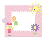 Photo frame for girl Royalty Free Stock Photography