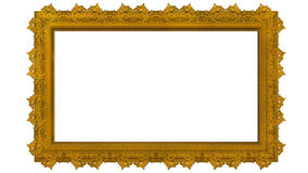Photo Frame. Golden Picture Frame isolated on  white background Royalty Free Stock Photography