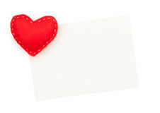 Photo frame or greeting card and handmaded valentines day toy he Stock Image