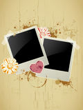 Photo frame on a grunge background Royalty Free Stock Photos