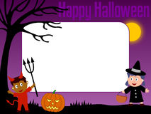 Photo Frame - Halloween [4]. Photo frame, post card or page for your scrapbook. Subject: Halloween kids Stock Photography