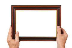 Photo Frame in the hands Stock Photos