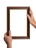 Photo Frame in the hands Royalty Free Stock Images