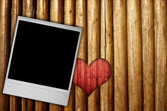 Photo frame with heart stock photography