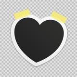 Photo frame heart. stock illustration