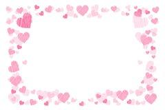 Photo frame. Hearts. for lovers. Horizontal orientation. Illustration for your design stock illustration