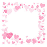 Photo frame. Hearts. for lovers. Square. Frame. Illustration for your design Royalty Free Stock Photos