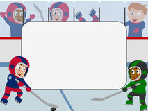 Photo Frame - Ice Hockey. Photo frame, post card or page for your scrapbook. Subject: ice hockey Stock Images