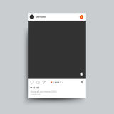 Photo Frame Inspired By Instagram For Friends Internet Sharing. Vector Template Royalty Free Stock Photography