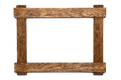 Photo frame isolated. Empty wooden photo frame isolated on white Stock Photo