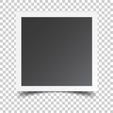 Photo frame on isolated background. For your photography and pic. Ture. Vector illustration Royalty Free Stock Image