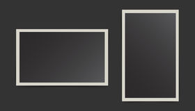 Photo frame on isolated background. For your photography and pic Stock Photography