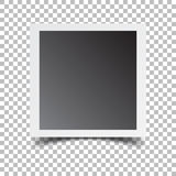 Photo frame on isolated background. For your photography and picture. Vector illustration Stock Images