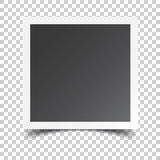 Photo frame on isolated background. For your photography and picture. Vector illustration Royalty Free Stock Photos
