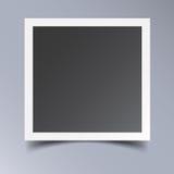 Photo frame isolated on grey background. Stock Image