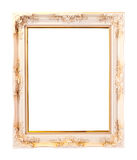 Photo frame isolated on white. White photo frame isolated on white Royalty Free Stock Photography