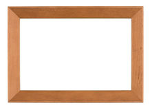 Photo frame isolated on white background. With clipping path royalty free stock photos