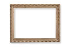 Photo frame isolated. On white background with clipping path Stock Photos