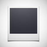 Photo frame isolated on white background. Polaroid photo frame isolated on white background. Vector illustration Stock Image