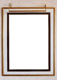 Photo frame with lamp Stock Images
