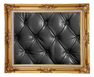 Photo frame Leather Stock Image