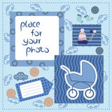 Photo frame for little boy Stock Image
