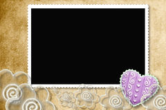 Photo frame for lovers Royalty Free Stock Photos