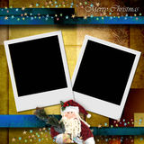 Photo frame merry christmas card Stock Images