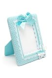 Photo frame for new born male. Decorated photo frame for new born Stock Photos