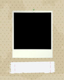 Photo frame and note Royalty Free Stock Photography