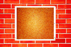 Photo frame on old brick wall Royalty Free Stock Image