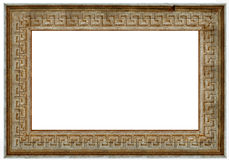 Photo frame - old wood. Wooden picture art frame isolated on white Stock Photo