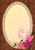 Photo frame with ornament. Royalty Free Stock Image