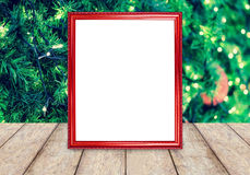 Photo frame over christmas background Royalty Free Stock Photo